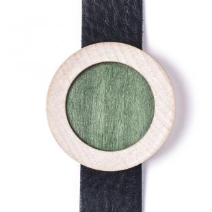 Verde . Acero . Cuoio Nero